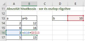 Abszolút hivatkozás Excel