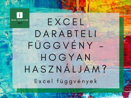 Excel darabteli függvény