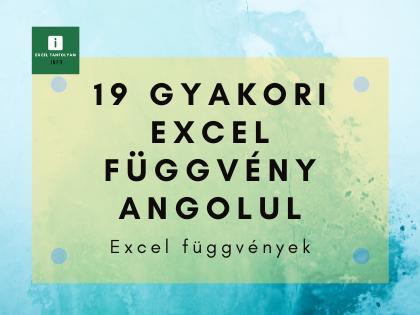 Excel függvények angolul