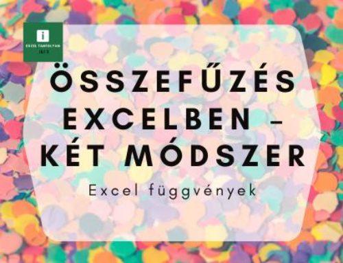 Összefűzés Excelben – két módszer