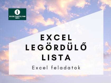 Excel legördülő lista megoldással