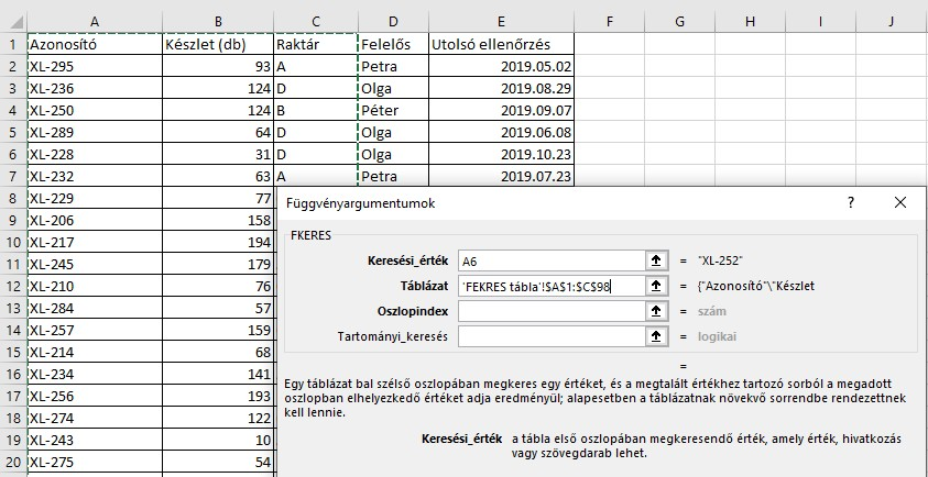 fkeres excel