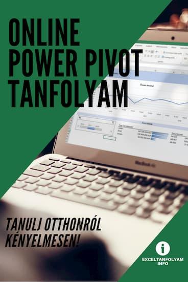 Online Excel Power Pivot tanfolyam