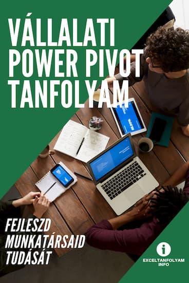 Vállalati Excel Power Pivot tanfolyam