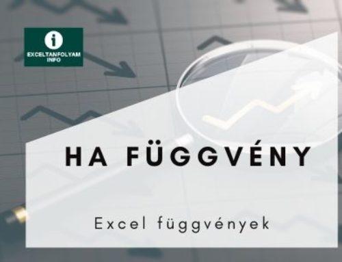 Excel HA függvény magyarázat és példák