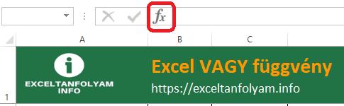 Excel VAGY függvény példa