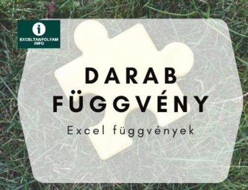 Excel DARAB függvény magyarázat és példák