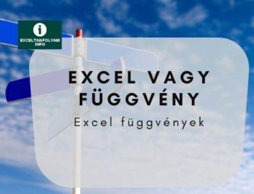Excel VAGY függvény bemutatása