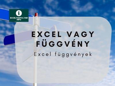 Excel VAGY függvény