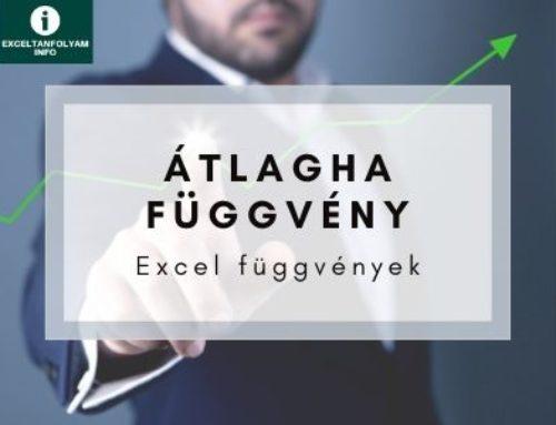 Excel ÁTLAGHA függvény magyarázata példával