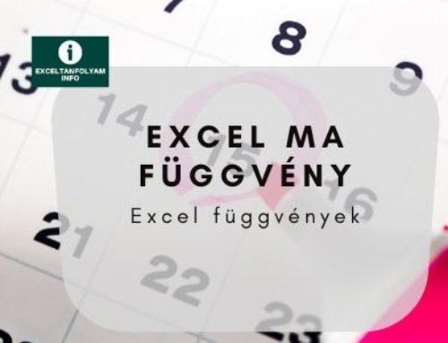 Excel MA függvény magyarázata példán keresztül