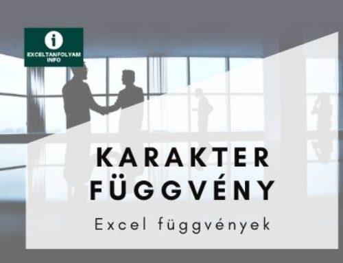 Excel KARAKTER függvény magyarázattal
