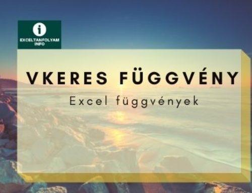 Excel VKERES függvény magyarázat példákkal